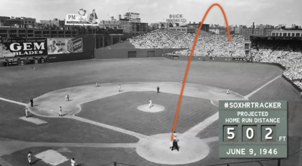 Ted Williams 502-foot home run