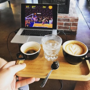NBA Jam with kmcwilliams21 at kaldiscoffee may need to becomehellip