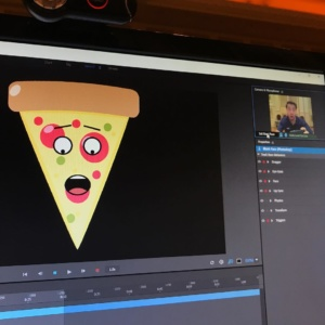 Turned myself into an animated slice of pizza! AdobeMAX